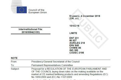 EU's Gødningsforordning forhandlet færdig